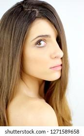 Cute young woman portrait