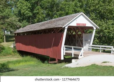 Cutler-Donahoe covered bridge, Winterset, Iowa USA