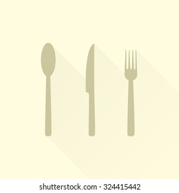 cutlery into flat design