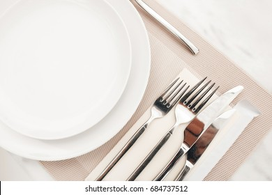 Cutlery on the table