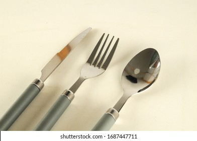 Cutlery set flatware isolated on white background