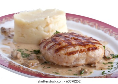 cutlet with garnish on a plate