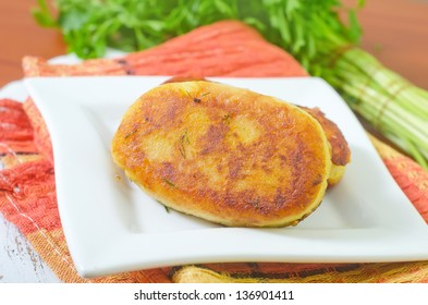 cutlets from mashed potato and meat