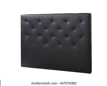 cutout black leather headboard bed bedroom