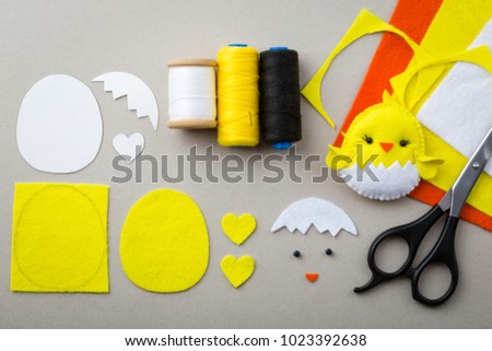 Cutout Details Chicken Toy Fabric Crafts Stock Photo Edit Now