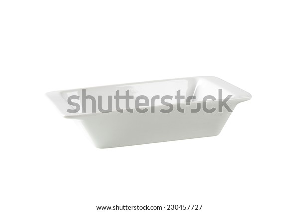 cutout of empty white bowl on white background