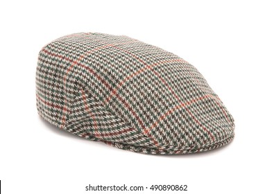 6d37f7a1f2f Cutout of a houndstooh tweed hunting hat or flat cap.