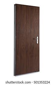 cutout isolated wood door
