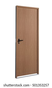 cutout isolated wood door