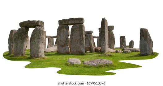 Cut-out Stonehenge Prehistoric Monument, Wiltshire, England.