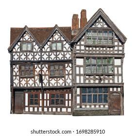 Cut-out Tudor period building, England
