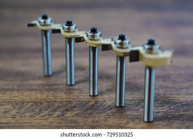 Cutter with bearing. Milling cutter and router bit. Broad T type bit with bearing.