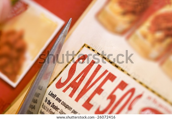 cutting abstract discount coupon