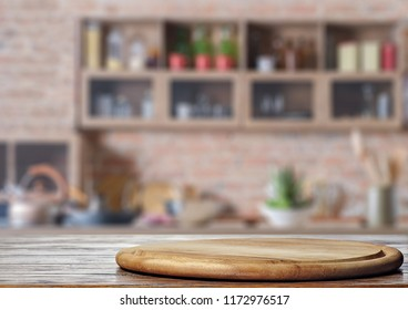 Cutting board on the kitchen table