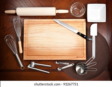 Cutting board and other kitchen tools