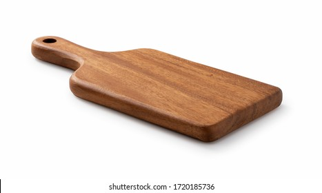Cutting board placed on a white background