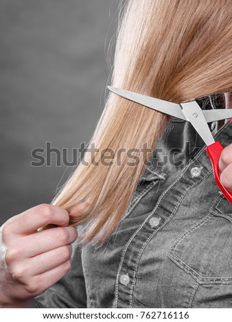 Cutting Coiffure New Look Part Body Stock Photo Edit Now 762716116
