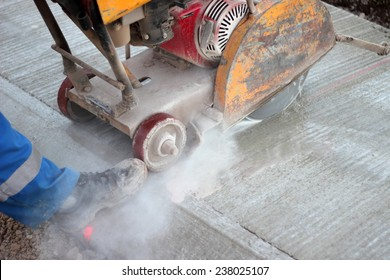 Cutting concrete