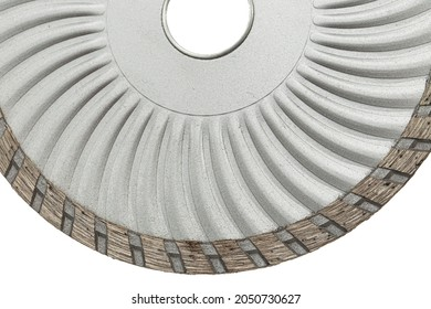 Cutting disk with diamonds, diamond disc for concrete, isolated on white background
