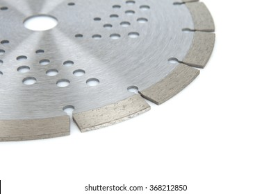 Cutting disk with diamonds - Diamond disc for concrete on the white background