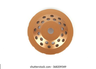 Cutting disks with diamonds - Diamond discs for concrete isolated on the white background