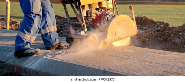 Cutting fresh concrete