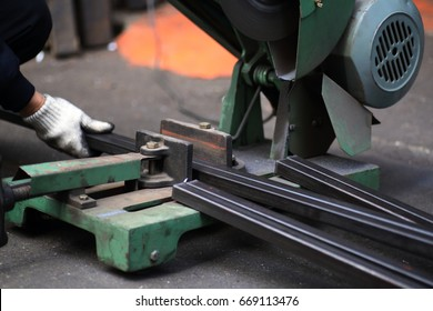 Cutting of a metal pipe