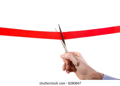cutting the red ribbon - new beginnings