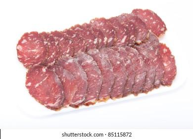 Cutting sausage