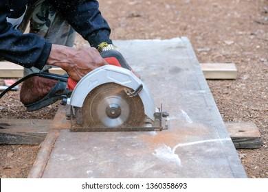 Cutting wood work