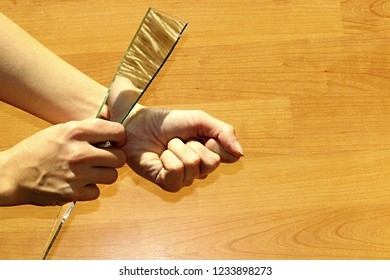 Cut Wrist Images, Stock Photos & Vectors | Shutterstock