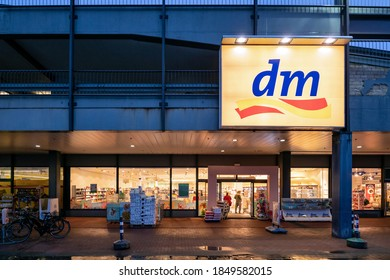 CUXHAVEN, GERMANY - OCTOBER 30, 2020: dm branch. dm-drogerie markt is a German chain of retail stores, that sells cosmetics, healthcare items, household products and health food.
