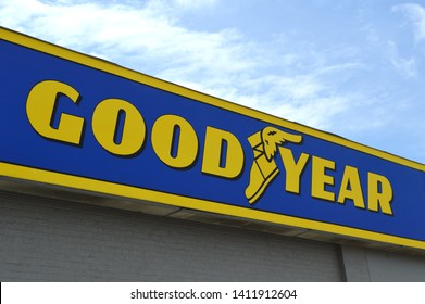Cuyahoga Falls, Ohio-USA May 26,2019: Goodyear is an American multinational tire manufacturing company.