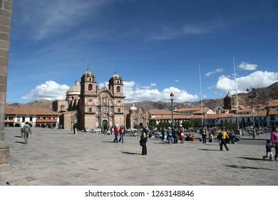 Cuzco, Perú: July 21 of 2005, Cuzco Cathedral in Plaza de Armas