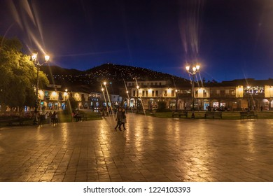CUZCO, PERU - MAY 23, 2015: Plaza de Armas square in Cuzco, Peru.