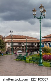 CUZCO, PERU - MAY 25, 2015: Plaza de Armas square in Cuzco, Peru.