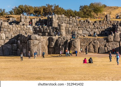 Cuzco, Peru: People in Sacsayhuaman.