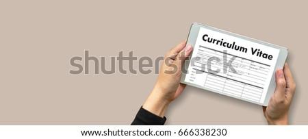 Cv Curriculum Vitae Job Interview Concept Stock Photo Edit Now