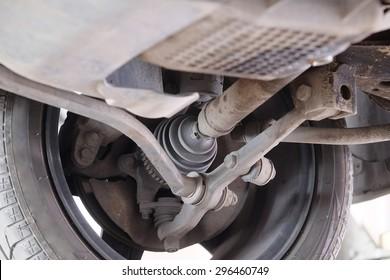 CV-joint of a car close-up