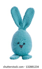 cyan handmade stuffed animal easter bunny