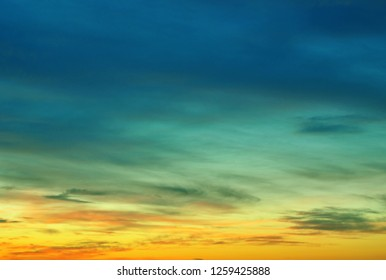 Cyan-blue sky cloud nature background