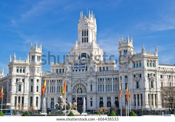 Cybele Palace Palacio De Cibeles On Stock Photo Edit Now