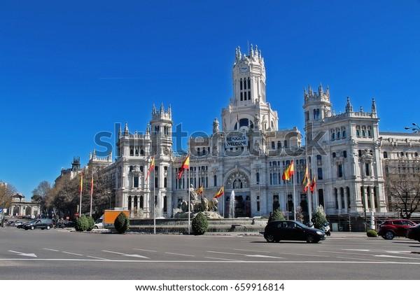 Cybele Palace Palacio De Cibeles City Stock Photo Edit Now
