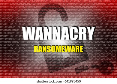 Cyber Attack Malware Ransomware WANNACRY Virus Encrypted Files and Lock Your Computer - Technology and Security Concept.