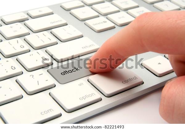 Cyber attack, cyber terrorism, cybercrime concept.