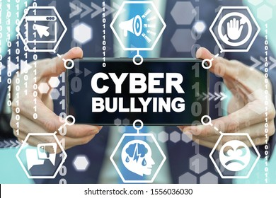 Cyber Bullying Web Aggression Concept. Abuse Victim Internet Harassment.