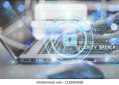Cyber internet security concept