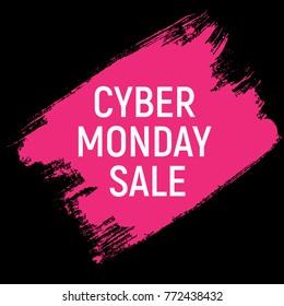 Cyber Monday Background Sale Concept.  Illustration