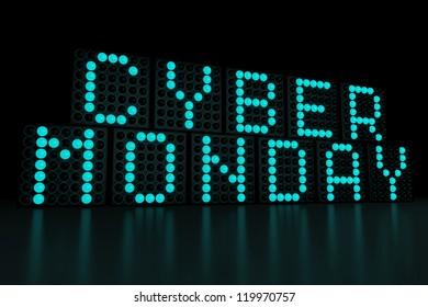 Cyber Monday dark background