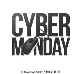cyber monday phone sign illustration design over white